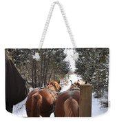 Sleigh Ride Dwn A Snowy Lane Weekender Tote Bag