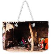 Slice Of Life Mud Oven Chulha Tandoor Indian Village Rajasthani 1b Weekender Tote Bag
