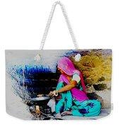 Slice Of Life Mud Oven Chulha Tandoor Indian Village Rajasthani 2 Weekender Tote Bag
