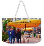 Slice Of Life Nyc-herald Square Weekender Tote Bag