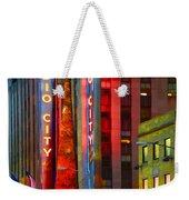 Slice Of Life Nyc-holiday Hustle Weekender Tote Bag