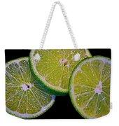 Sliced Limes Weekender Tote Bag