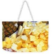Sliced Pineapple Weekender Tote Bag