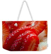 Sliced Strawberries Weekender Tote Bag