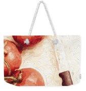 Sliced Tomatoes. Vintage Cooking Artwork Weekender Tote Bag
