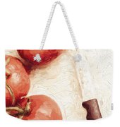 Sliced Tomatoes. Vintage Cooking Artwork Weekender Tote Bag