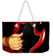 Red Gibson Guitar Weekender Tote Bag