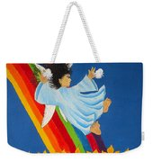 Sliding Down Rainbow Weekender Tote Bag