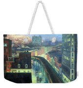 Sloan's The City From Greenwich Village Weekender Tote Bag