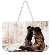 Slouch Cowboy Boots Weekender Tote Bag