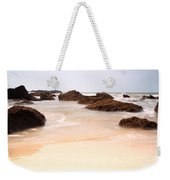 Slow Shutter Sea Around Rocks Weekender Tote Bag