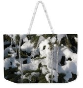 Slow Snow Melt Weekender Tote Bag