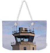 Small Air Traffic Control Tower Man Behind Glass Weekender Tote Bag