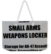 Small Arms Signage Russian Submarine Weekender Tote Bag