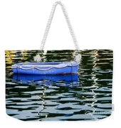 Small Blue Boat Weekender Tote Bag