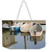 Small Boats And Dock In Port Clyde Maine Weekender Tote Bag