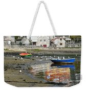 Small Boats And Seagulls In Galicia Weekender Tote Bag