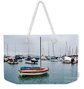 Small Boats At Lyme Regis Harbour Weekender Tote Bag