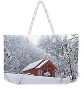 Small Cabin In The Snow Weekender Tote Bag