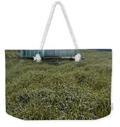 Small Cottage In Storm Weekender Tote Bag