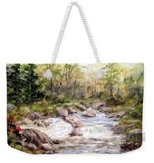 Small Falls In The Forest Weekender Tote Bag