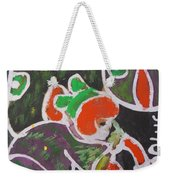 Small Girl Grind With Object In Her Hand Weekender Tote Bag