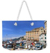 small harbor in Camogli. Italy Weekender Tote Bag