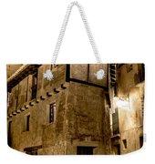 Small House In Albarracin At Night Weekender Tote Bag