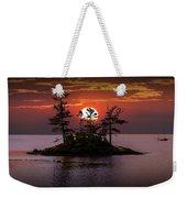 Small Island At Sunset Weekender Tote Bag