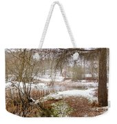 Small Lake In The Snow Weekender Tote Bag