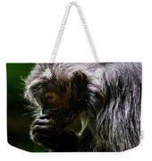 Small Monkey Eating Weekender Tote Bag