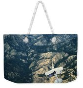 Small Plane Flying Over Mountains Weekender Tote Bag
