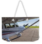 Small Plane In Private Airport Weekender Tote Bag