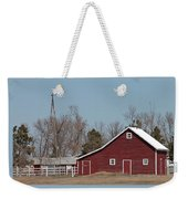 Small Red Barn With Windmill Weekender Tote Bag
