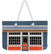 Small Store Front Entrance Colorful Wooden House Weekender Tote Bag