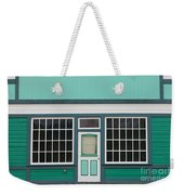 Small Store Front Entrance To Green Wooden House Weekender Tote Bag