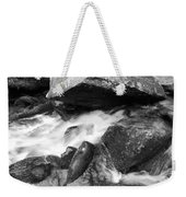 Small Stream Smoky Mountains Bw Weekender Tote Bag