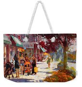 Small Talk In Elmwood Ave Weekender Tote Bag by Ylli Haruni