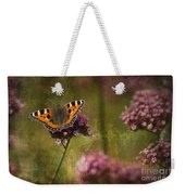 Small Tortoiseshell Butterfly Weekender Tote Bag