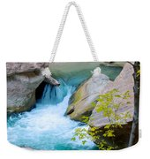 Small Virgin River Waterfall In Zion Canyon Narrows In Zion Np-ut Weekender Tote Bag