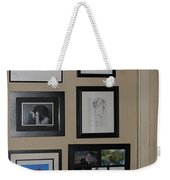 small Wall of Framed Weekender Tote Bag