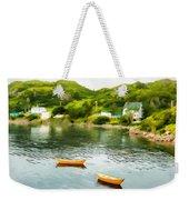 Small Yellow Boats Weekender Tote Bag