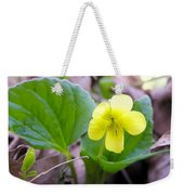 Small Yellow Violet Weekender Tote Bag