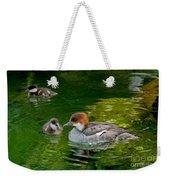 Smew With Ducklings Weekender Tote Bag