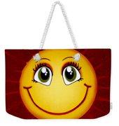 Smiley Sun Weekender Tote Bag