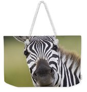 Smiling Burchells Zebra Weekender Tote Bag