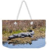 Smiling Gator Weekender Tote Bag