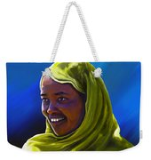 Smiling Lady Weekender Tote Bag