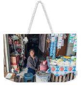 Smiling Vendor Weekender Tote Bag