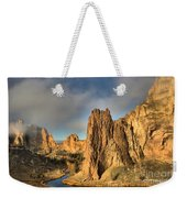 Smith Rock Foggy Morning Weekender Tote Bag